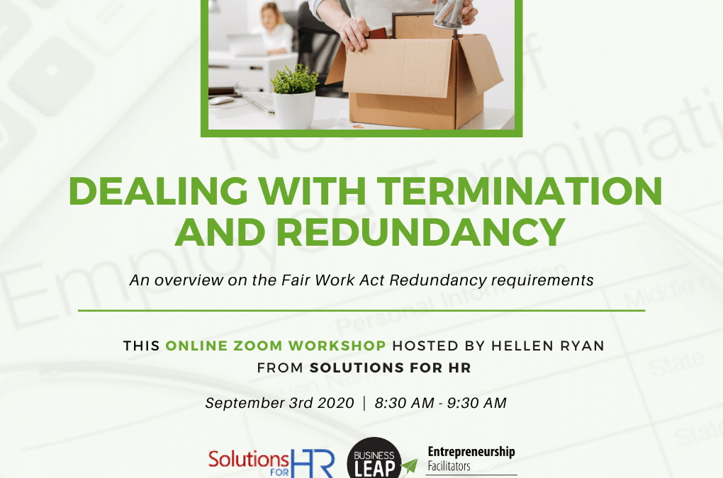 Dealing with Termination and Redundancy Webinar